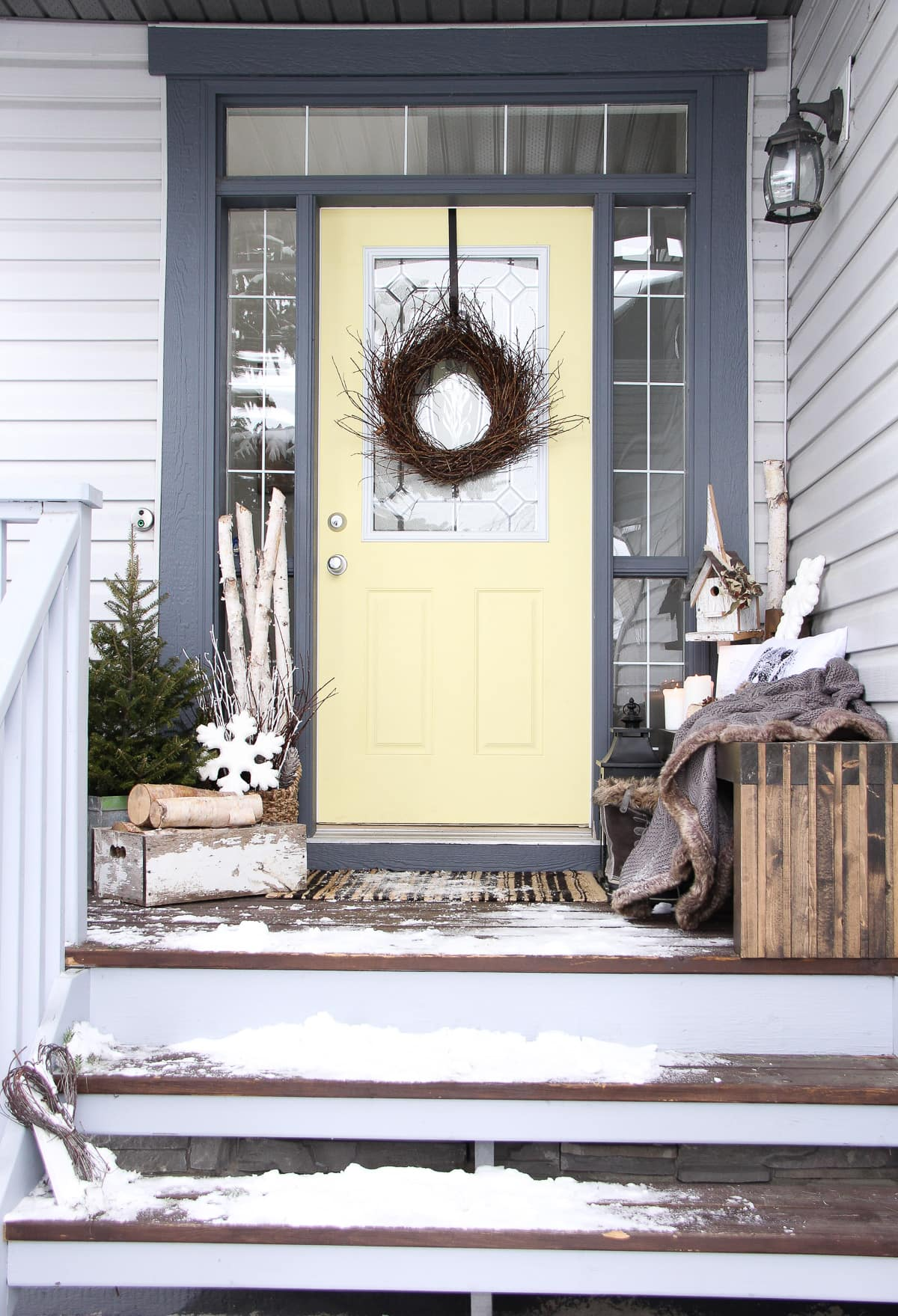 Decorating the Porch for Winter