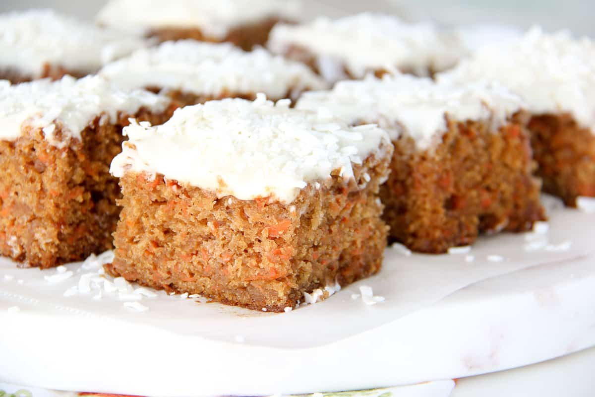 Carrot Cake Sheet Cake Recipe with Cream Cheese Frosting