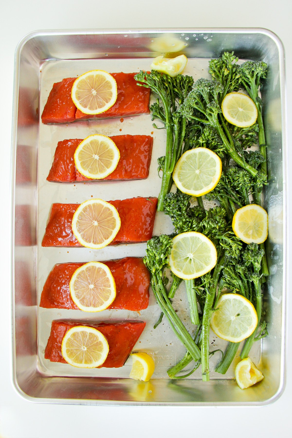Lemon and Maple Salmon Sheet Pan Dinner