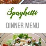 Spaghetti Dinner Menu