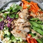Coconut Lime Grilled Turkey Bowl with Peanut Dressing