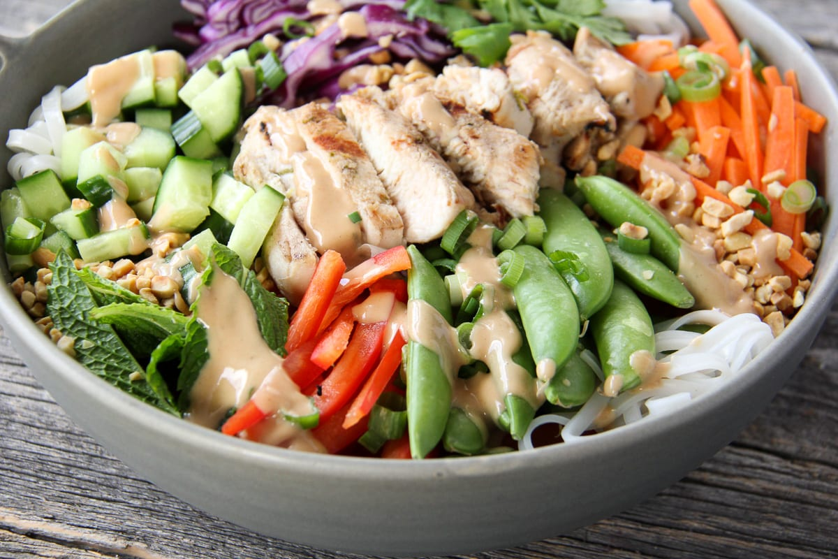 Coconut Lime Grilled Turkey Noodle Bowl