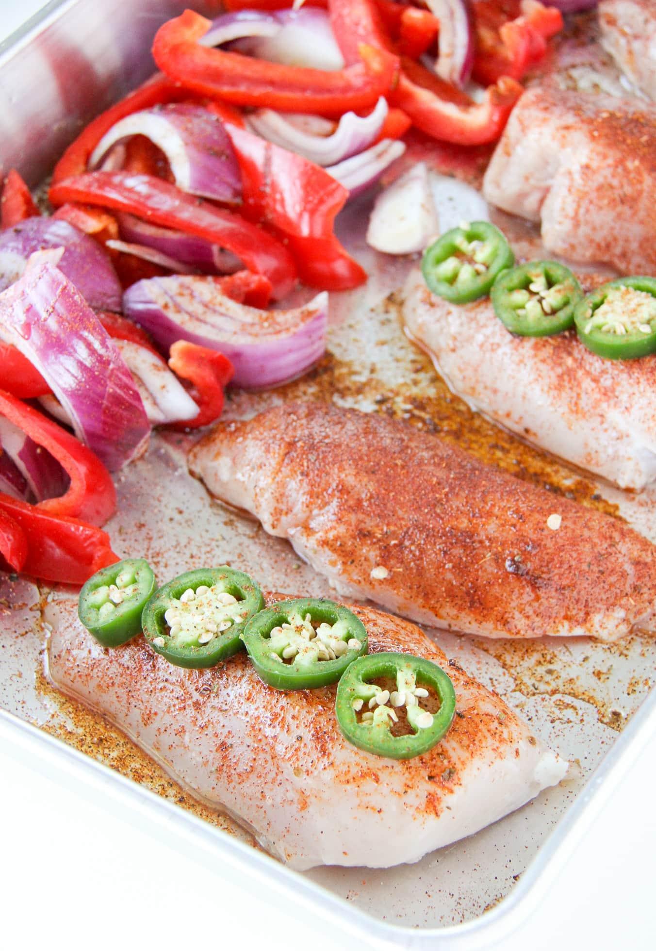 Fajita Chicken Sheet Pan Dinner