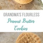 Grandma's Flourless Peanut Butter Cookie