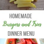 Homemade Burgers and Fries Dinner Menu