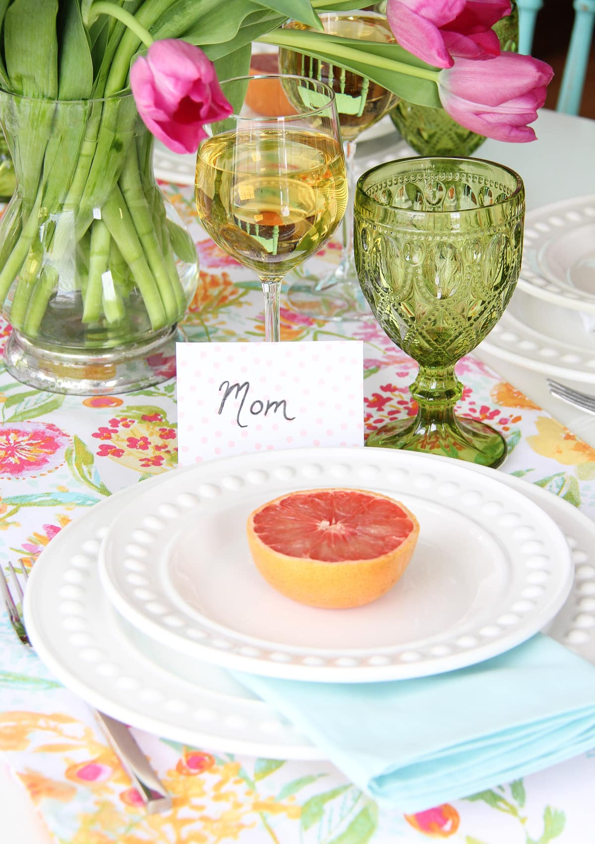 Mother 39 S Day Brunch Table Setting A Pretty Life In The