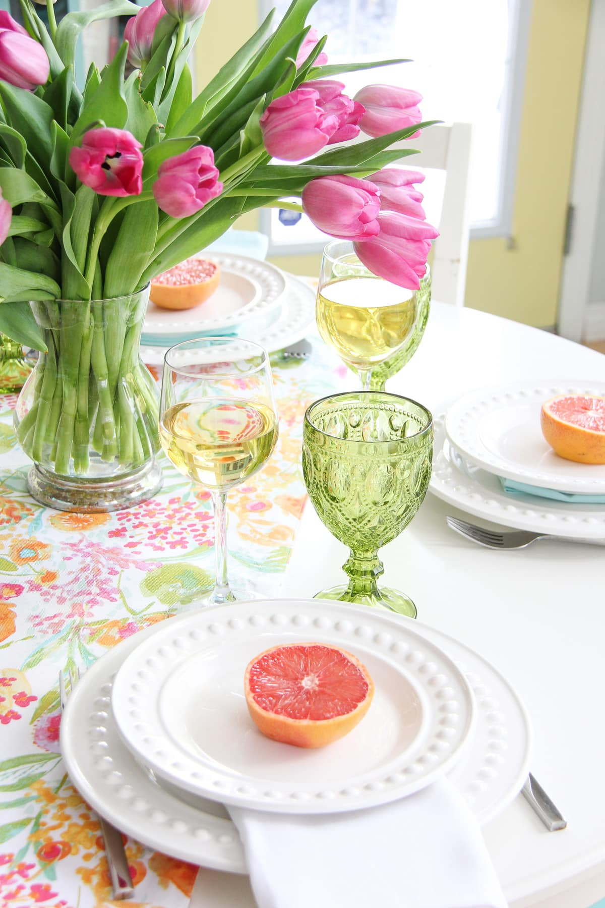 Mother's Day Brunch Table Setting