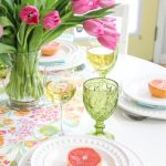 Simple and Pretty Spring Table Setting