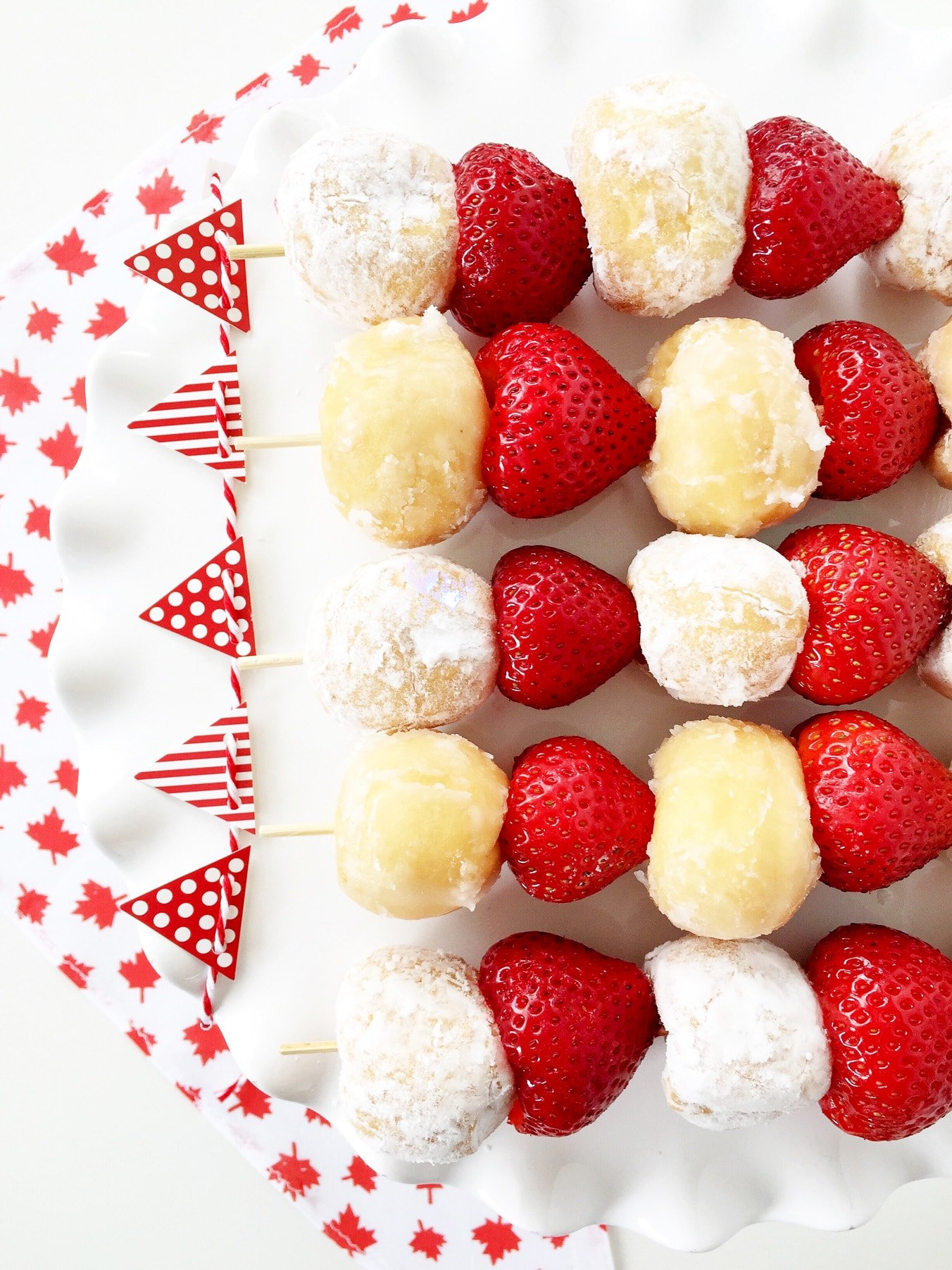 Canada Day Party: 5 Minute Dessert Kebabs
