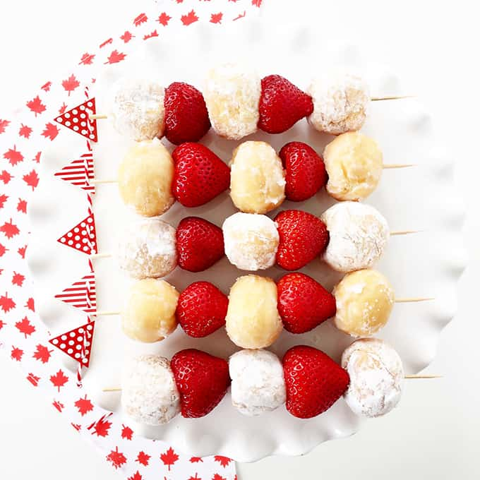 Canada Day Party 5 Minute Dessert Kebabs A Pretty Life