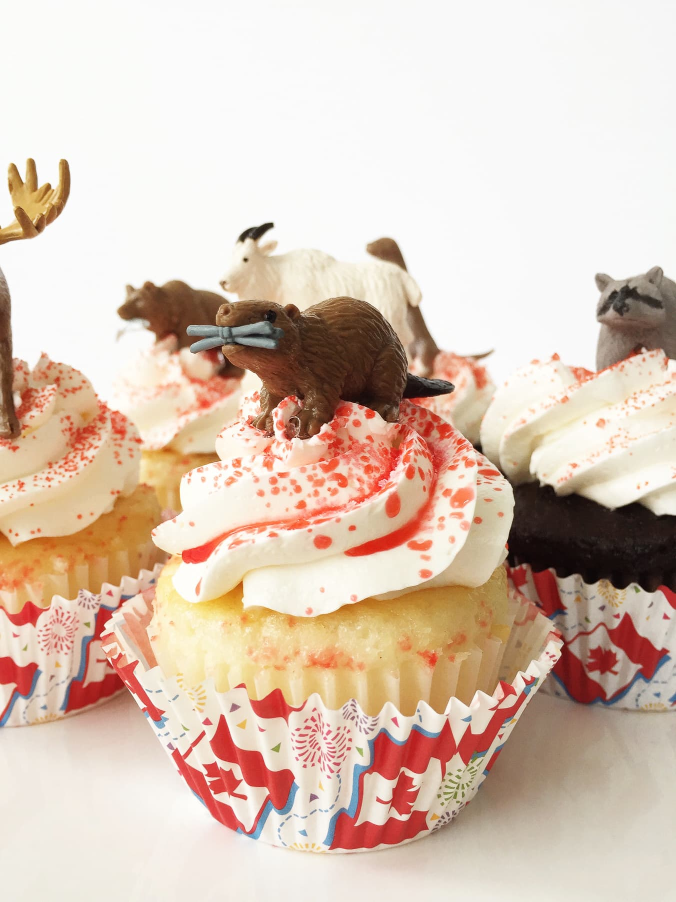 Canada Day Party: Canadian Animal Cupcakes