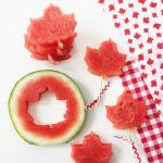 Maple Leaf Shaped Watermelon Pops
