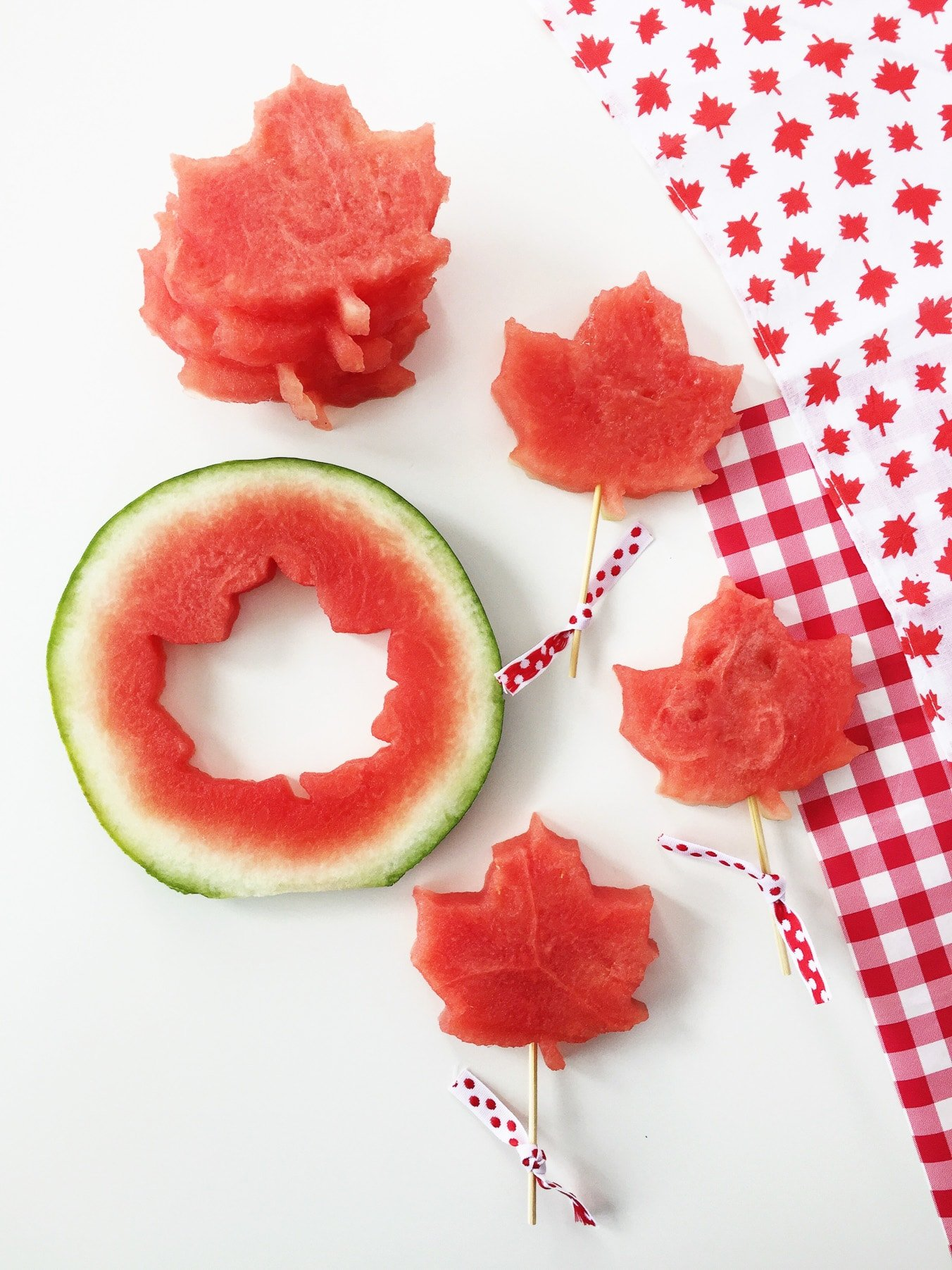 Canada Day Party: Maple Leaf Shaped Watermelon