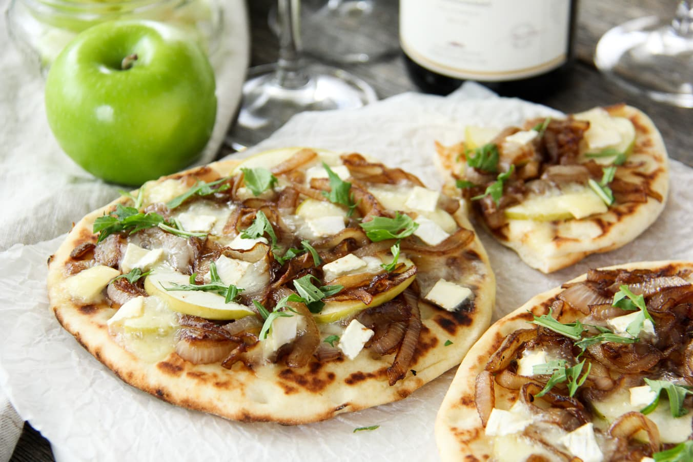 Caramelized Onion, Apple and Brie Flatbread