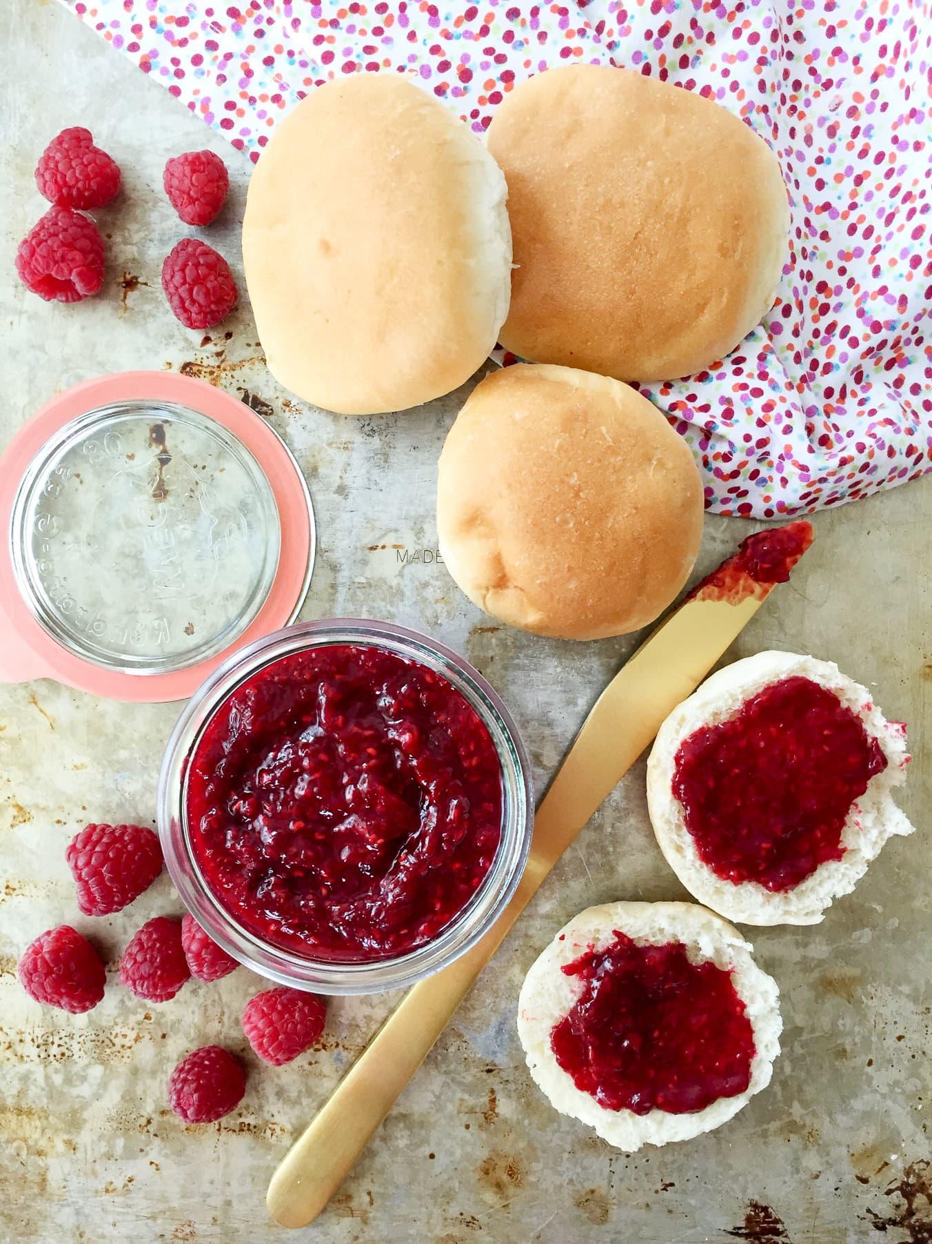 Easy 2 Ingredient Raspberry Jam