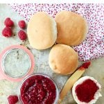 2 Ingredient Raspberry Jam with buns