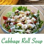 Cabbage Roll Soup Dinner Menu