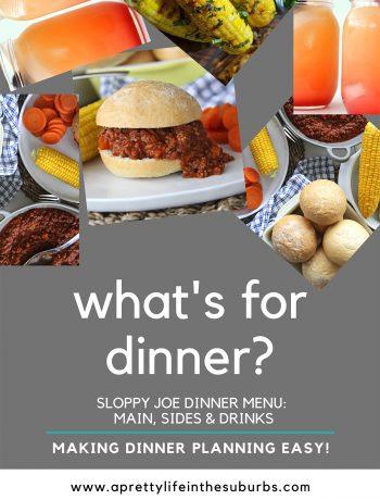 Sloppy Joe Dinner Menu