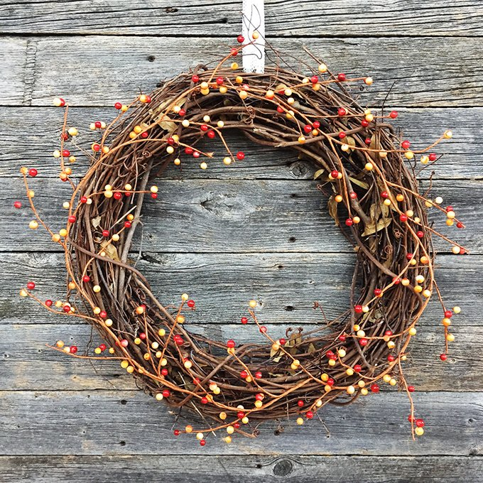 5 Minute Simple Fall Berry Wreath