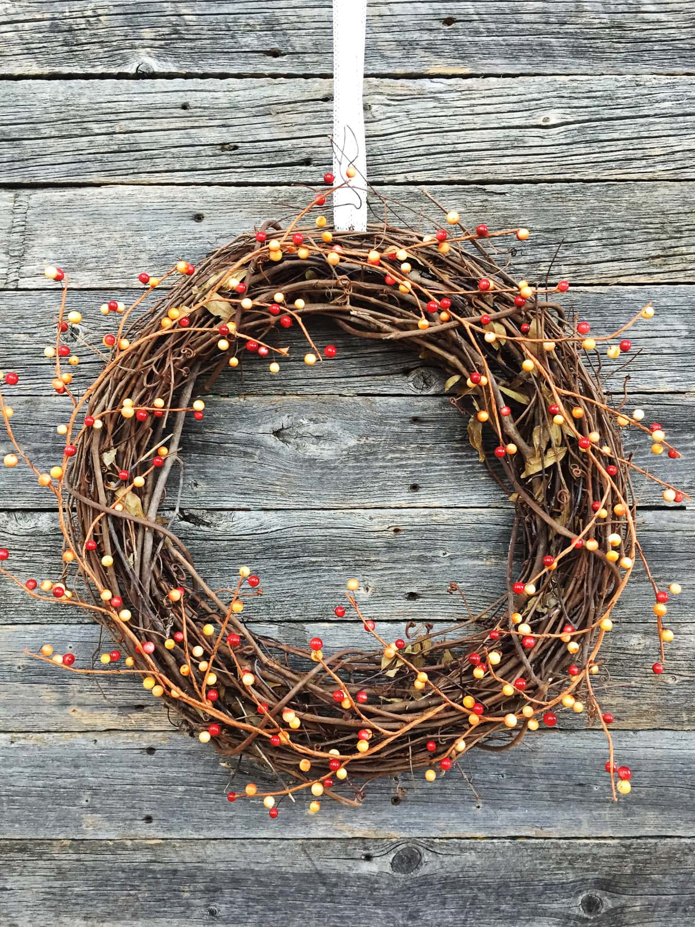 5 Minute Fall Berry Wreath