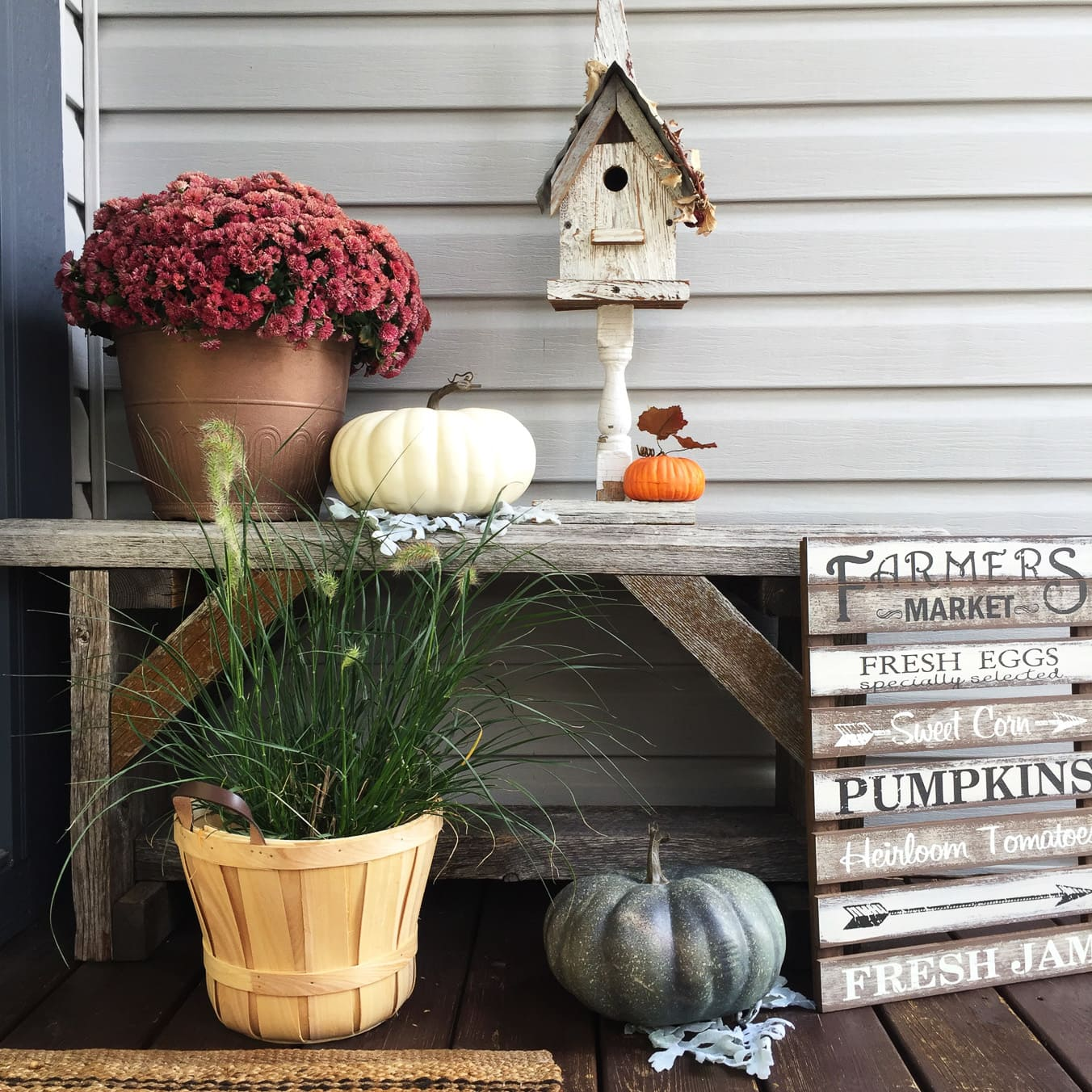 My Harvest Themed Fall Front Porch