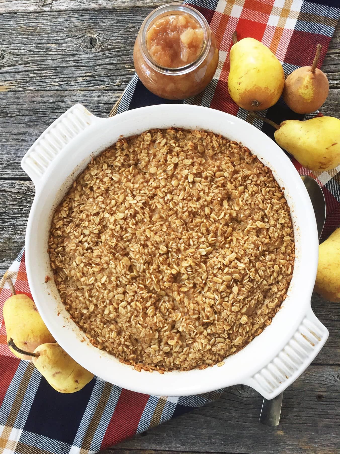 Pear Baked Oatmeal