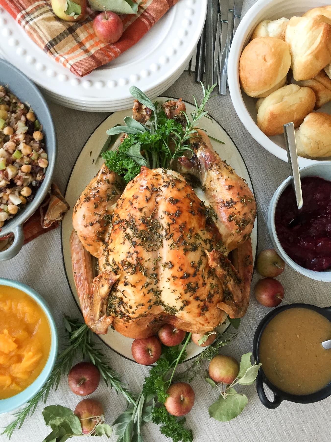 Traditional Roast Turkey with Pan Gravy