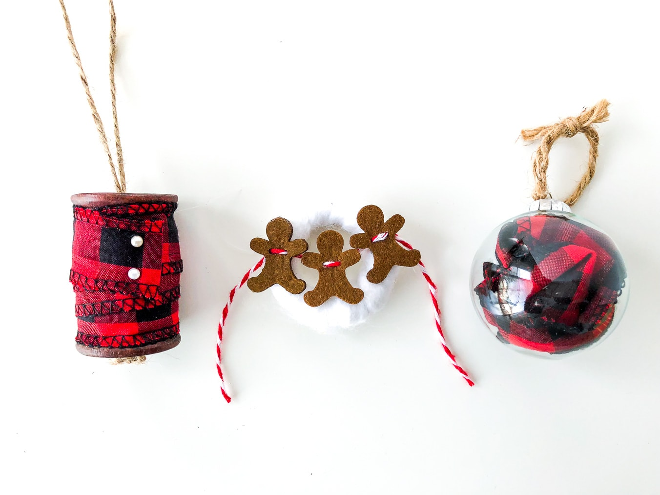 Buffalo Plaid Christmas Ornaments