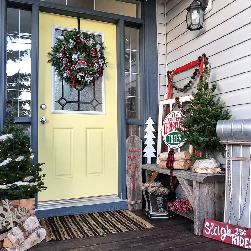 Classic Christmas Front Porch