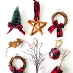 DIY Buffalo Plaid Christmas Tree Ornaments