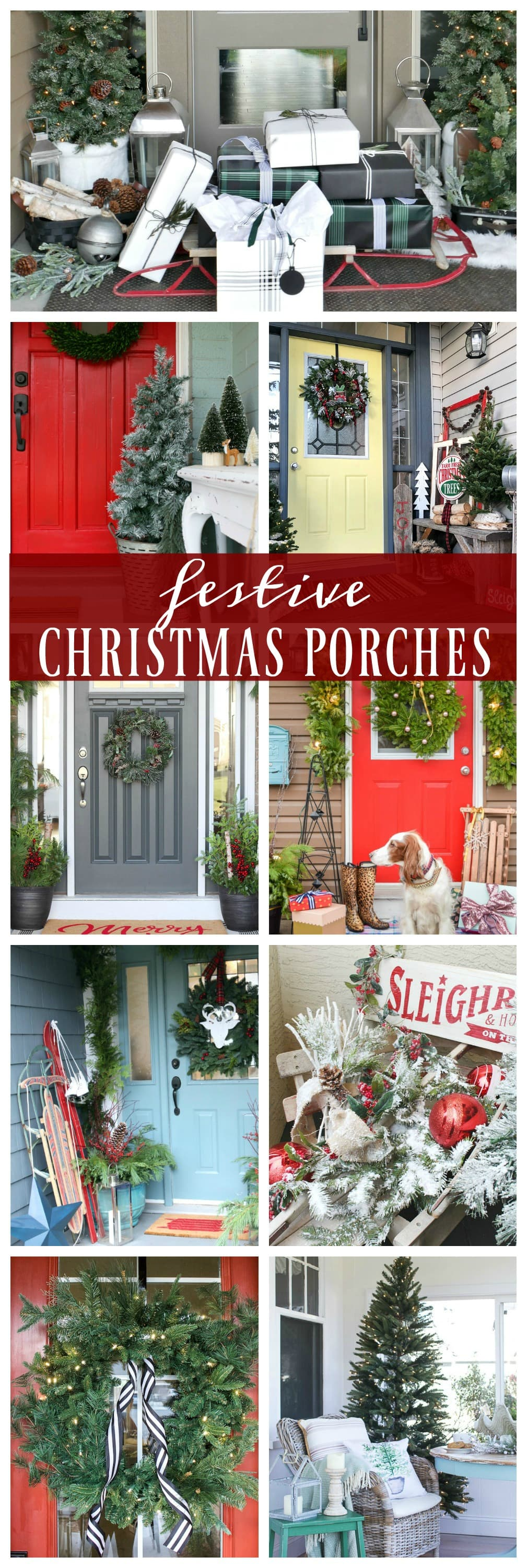 Festive Christmas Porches