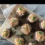 Cranberry and Turkey Stuffed Mushrooms