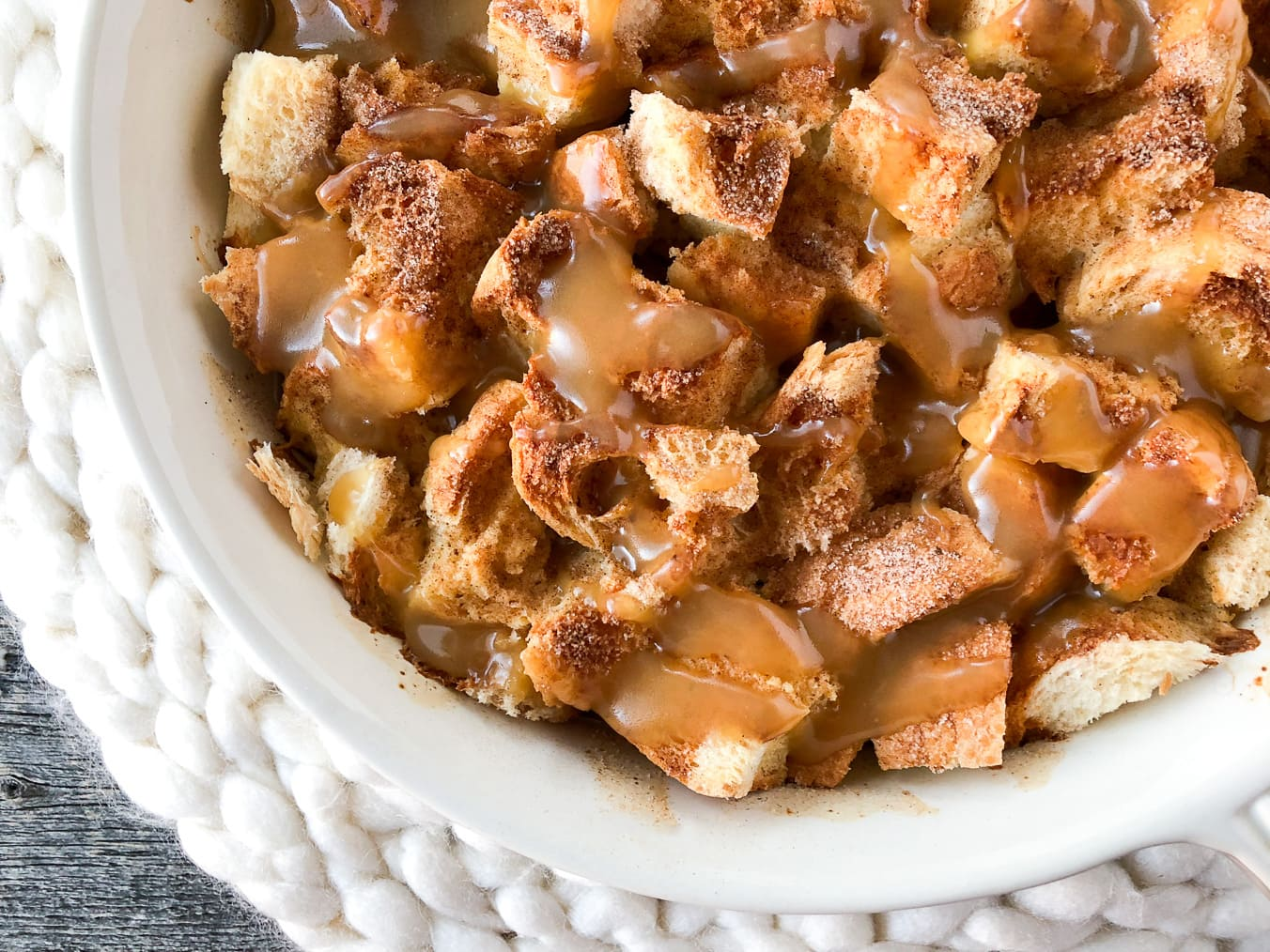 Easy Overnight Eggnog French Toast Bake