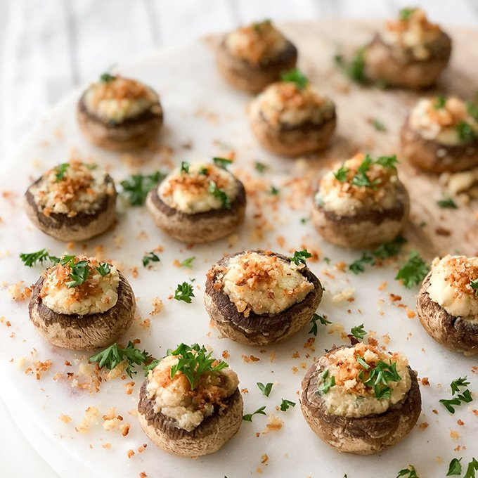 Parmesan Garlic Stuffed Mushrooms