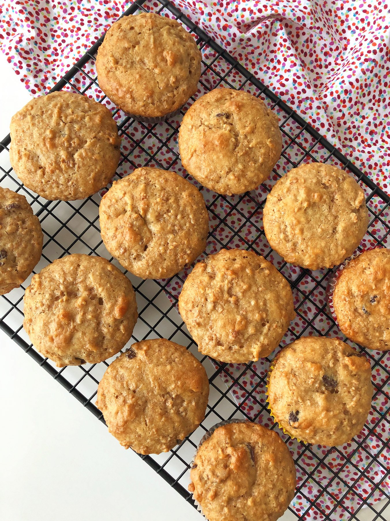 Pail Full of Bran Muffins (made with bran flakes cereal)