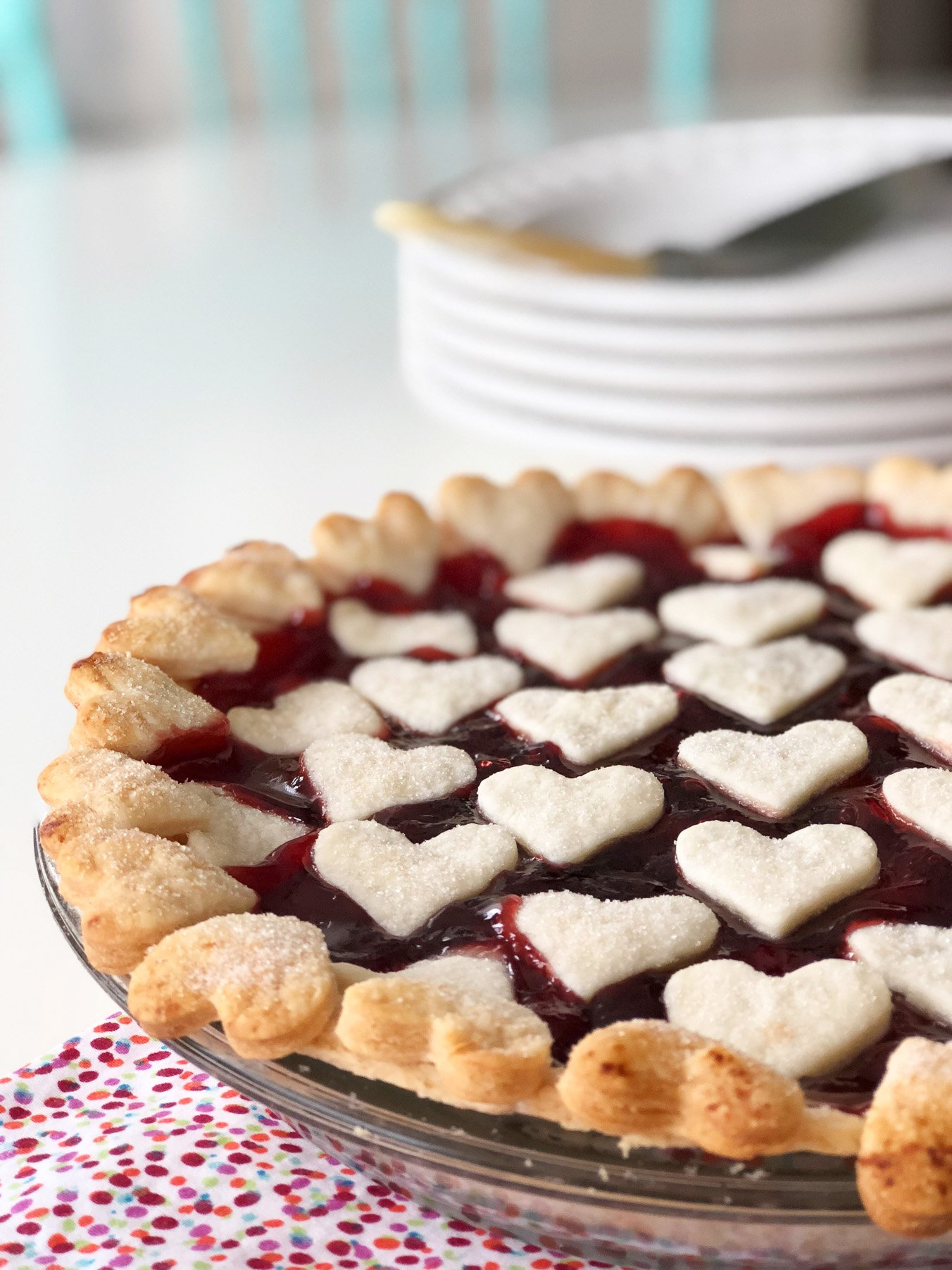 Valentine's Day Cherry Pie