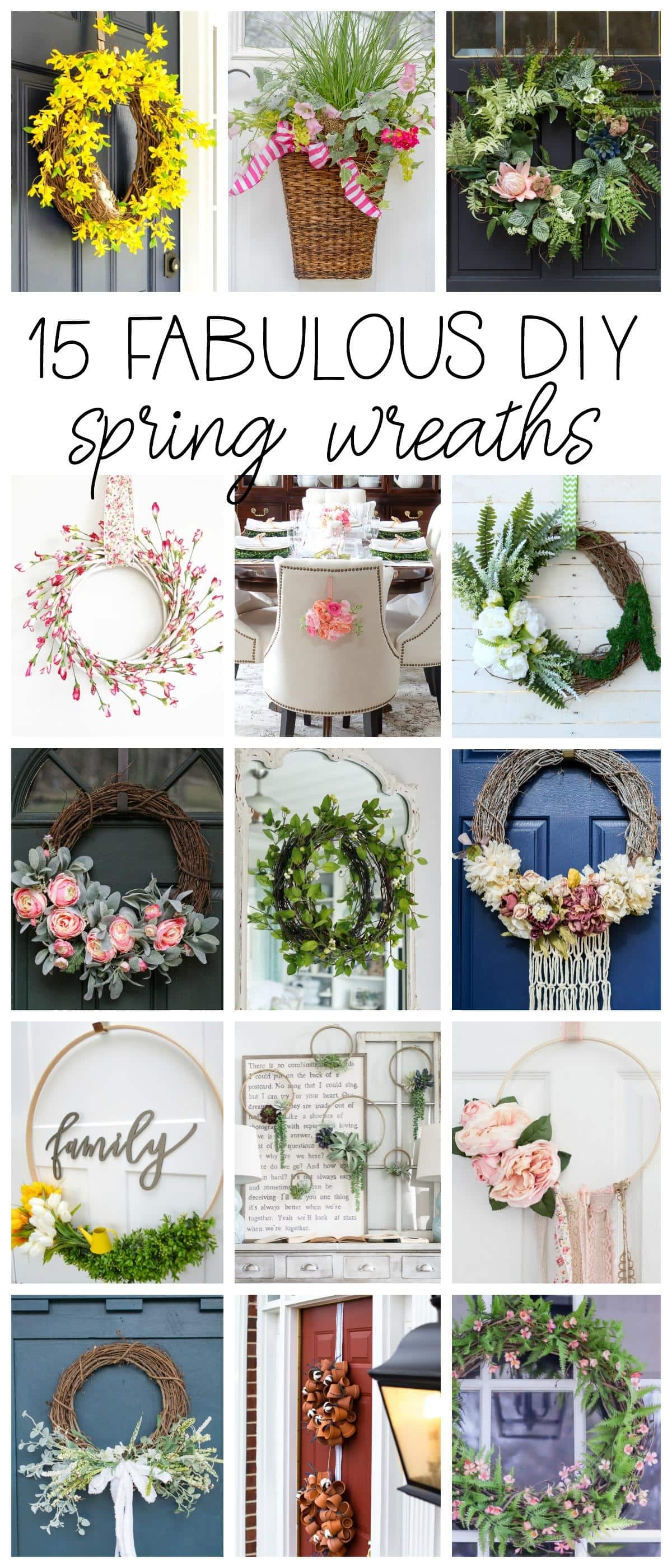 15 Fabulous DIY Spring Wreaths