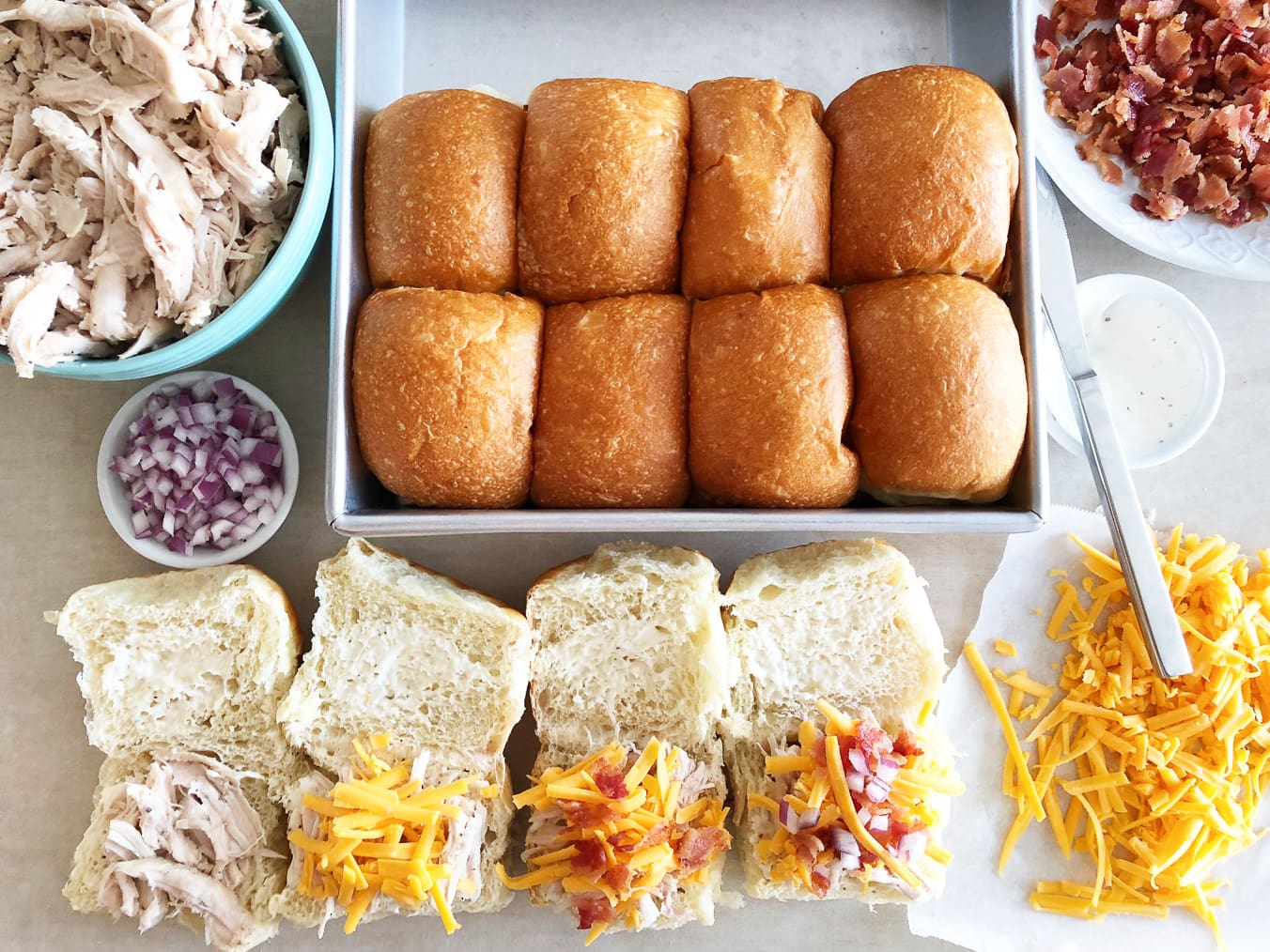 Simple Ways to Stretch Your Meals: Make a tray of baked sandwiches with last night's leftover meat