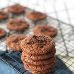 These Chocolate Chocolate Chip Cookies are soft, chewy and full of delicious rich chocolate flavour.  This recipe makes a big batch.