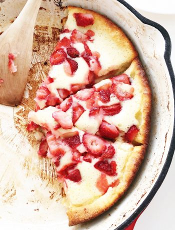 Strawberry Buttermilk Dutch Baby (Puff Pancake)