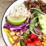 Mexican Dinner Bowl with Cilantro Lime Dressing Recipe