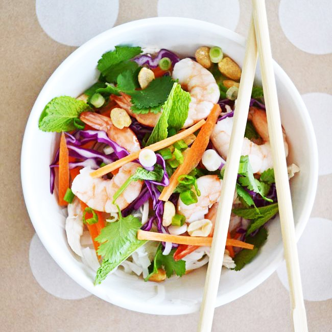Salad Roll Bowl with Peanut Dressing