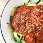 Tomato Sauce and Zucchini Noodles Recipe