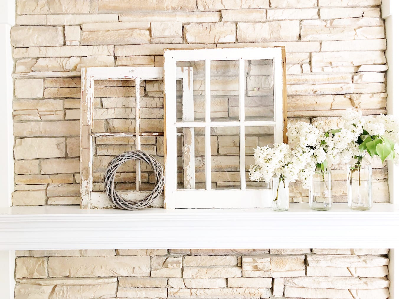 Simple Early Summer Mantel