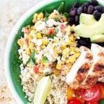 Mexican Street Corn Chicken Bowl