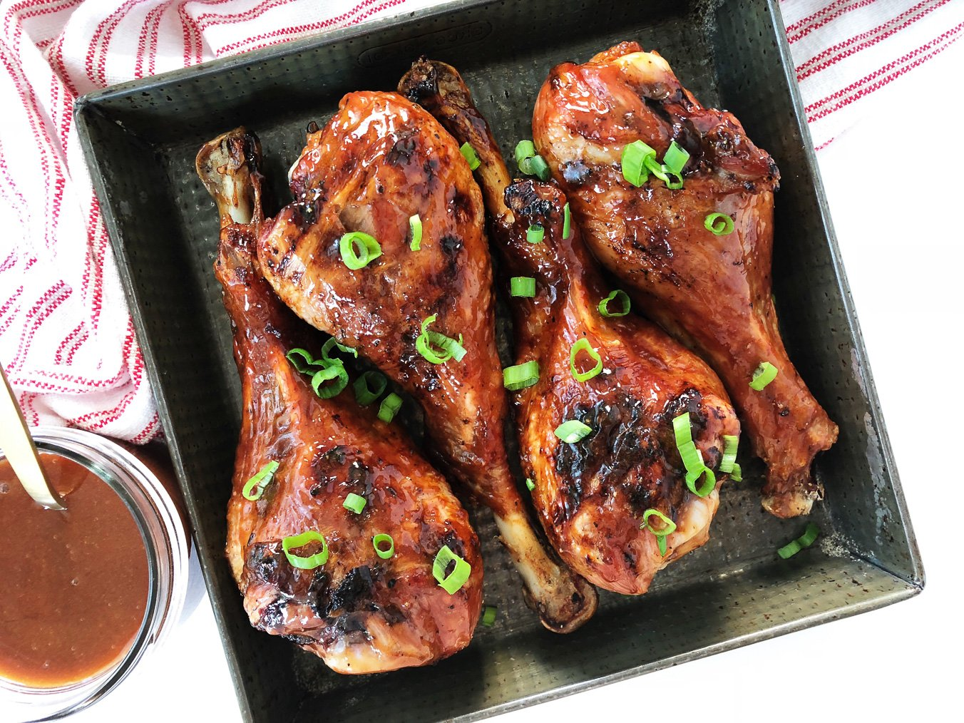 Sweet & Sticky BBQ Turkey Legs