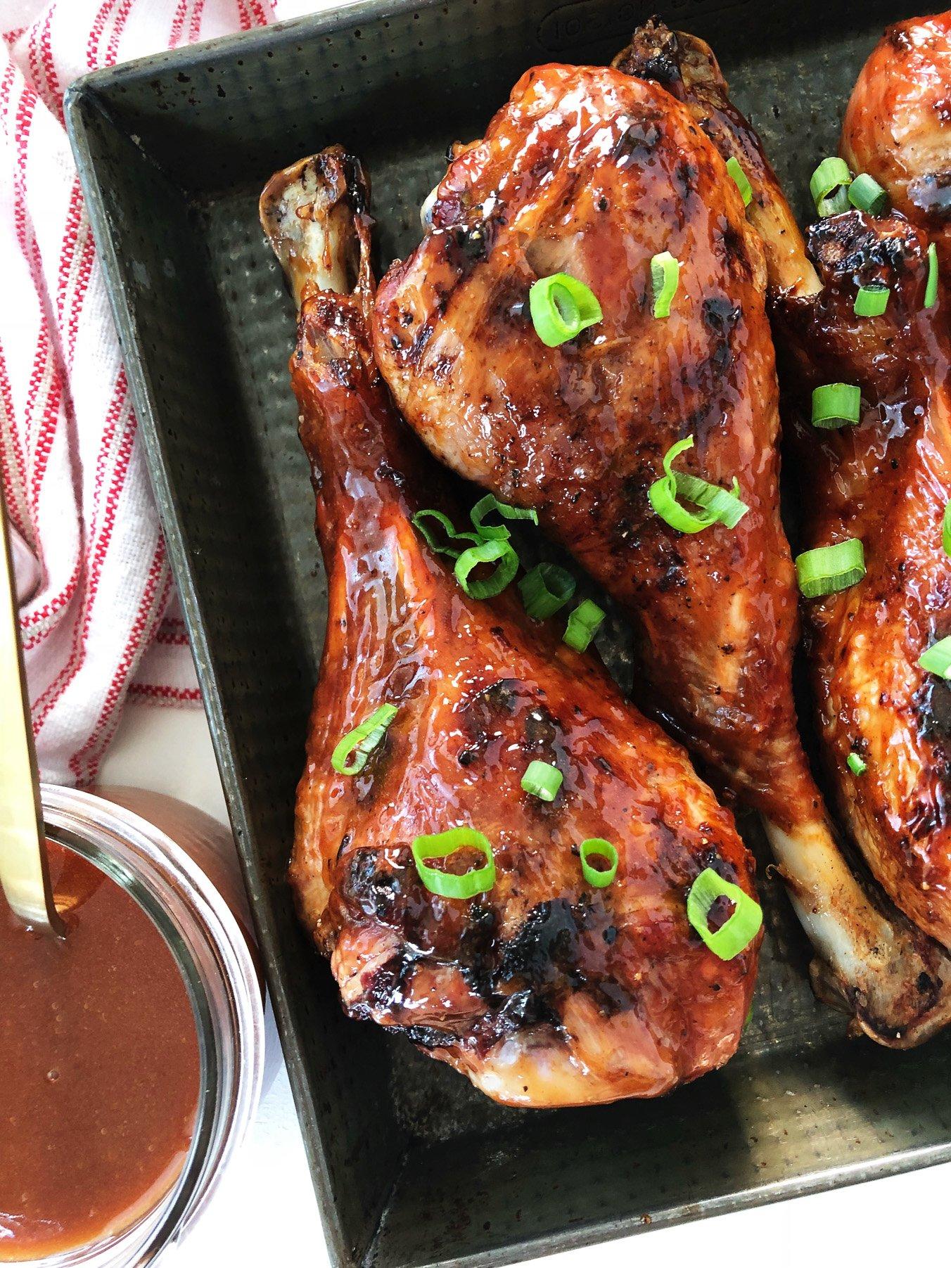 Sweet & Sticky BBQ Turkey Legs