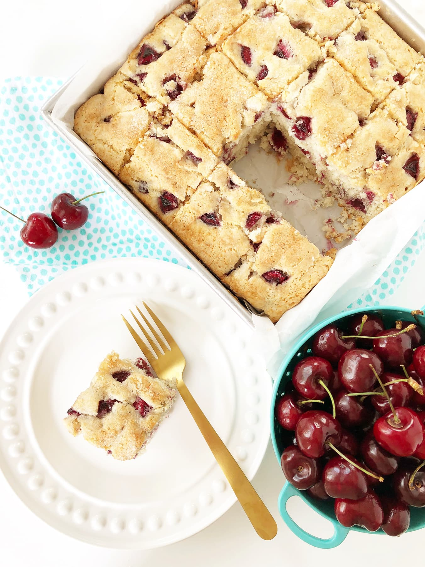 Cherry Buttermilk Breakfast Cake