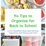 11+ Tips to Organize for Back to School