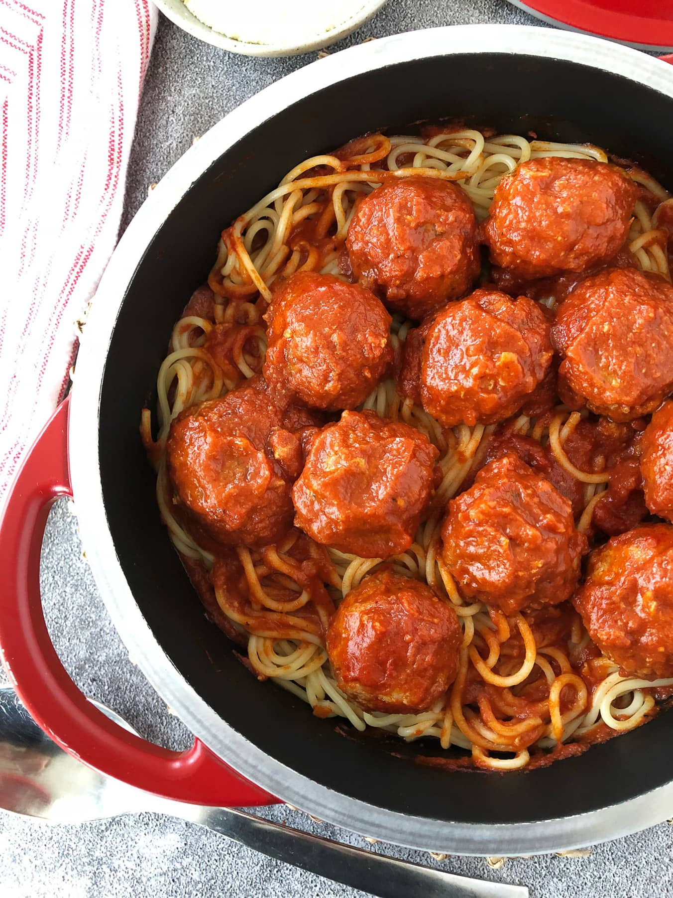 Spaghetti and Turkey Meatballs